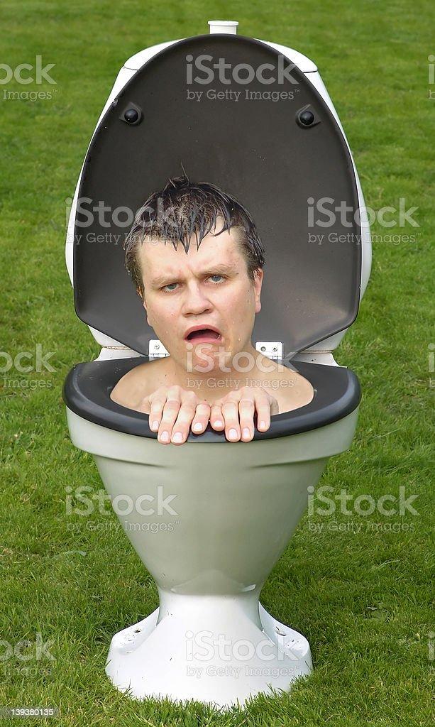 Flushed! royalty-free stock photo