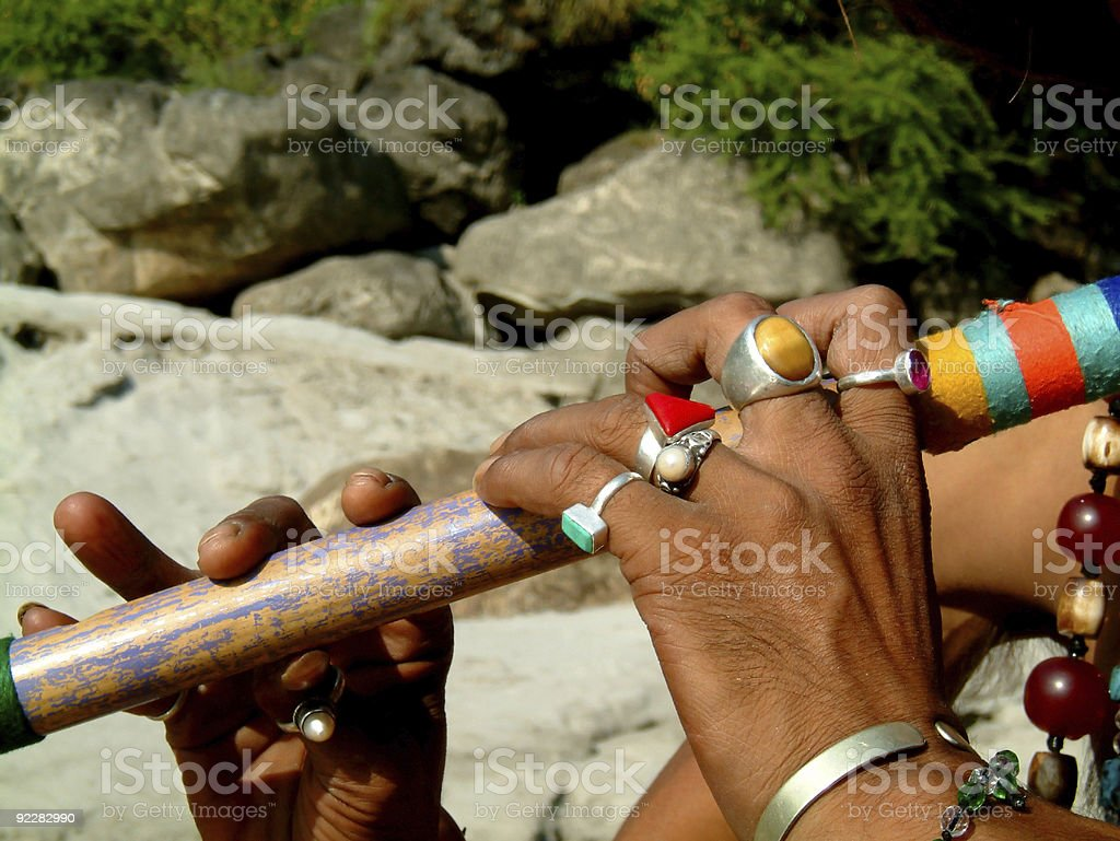 flute and rings royalty-free stock photo