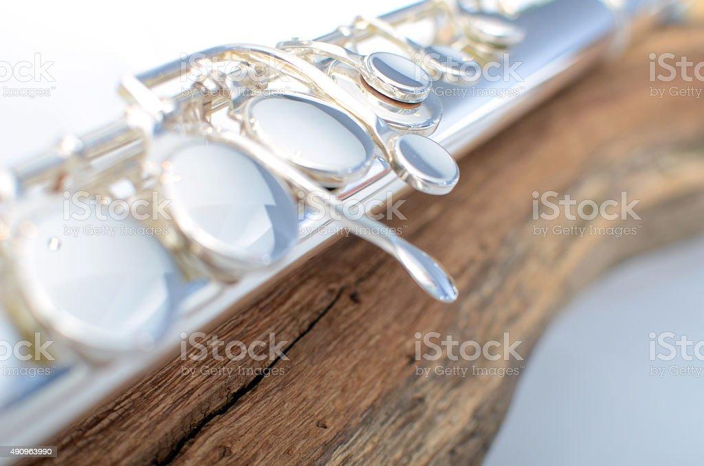 Flute, close up stock photo