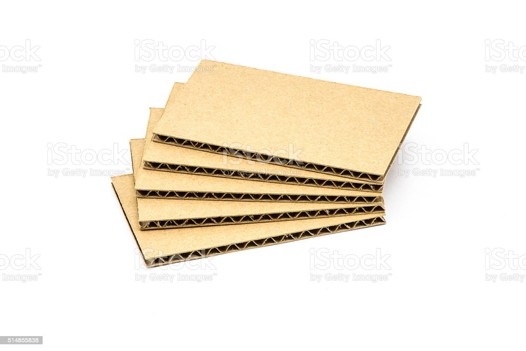 'B' Flute Corrugated Sheets, Cardboard stock photo
