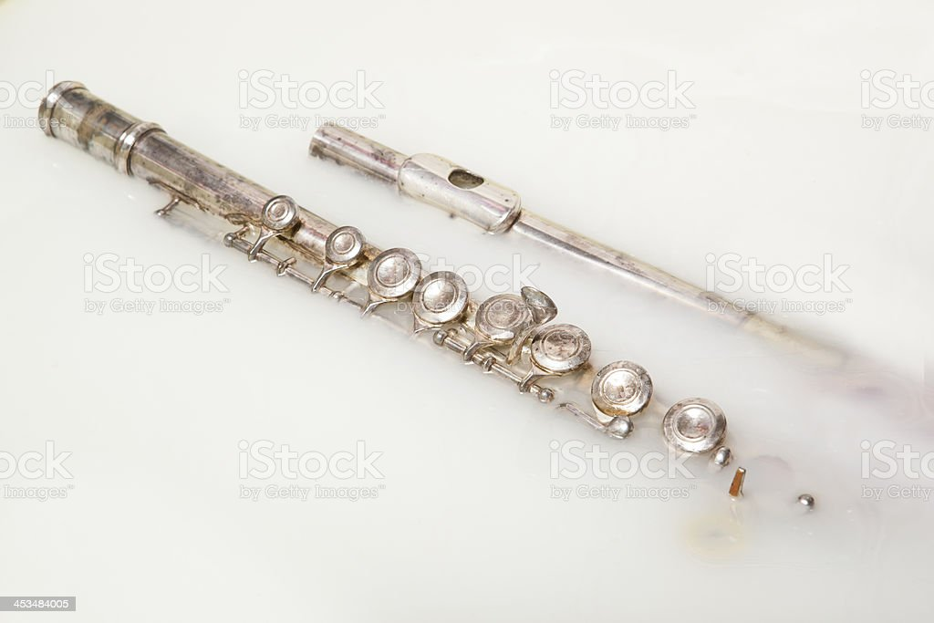 flute in the milk stock photo