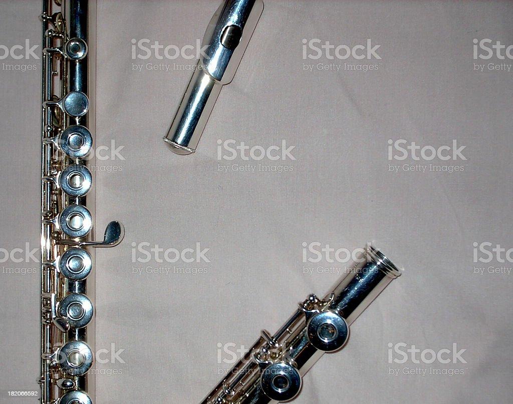 Flute in three stock photo