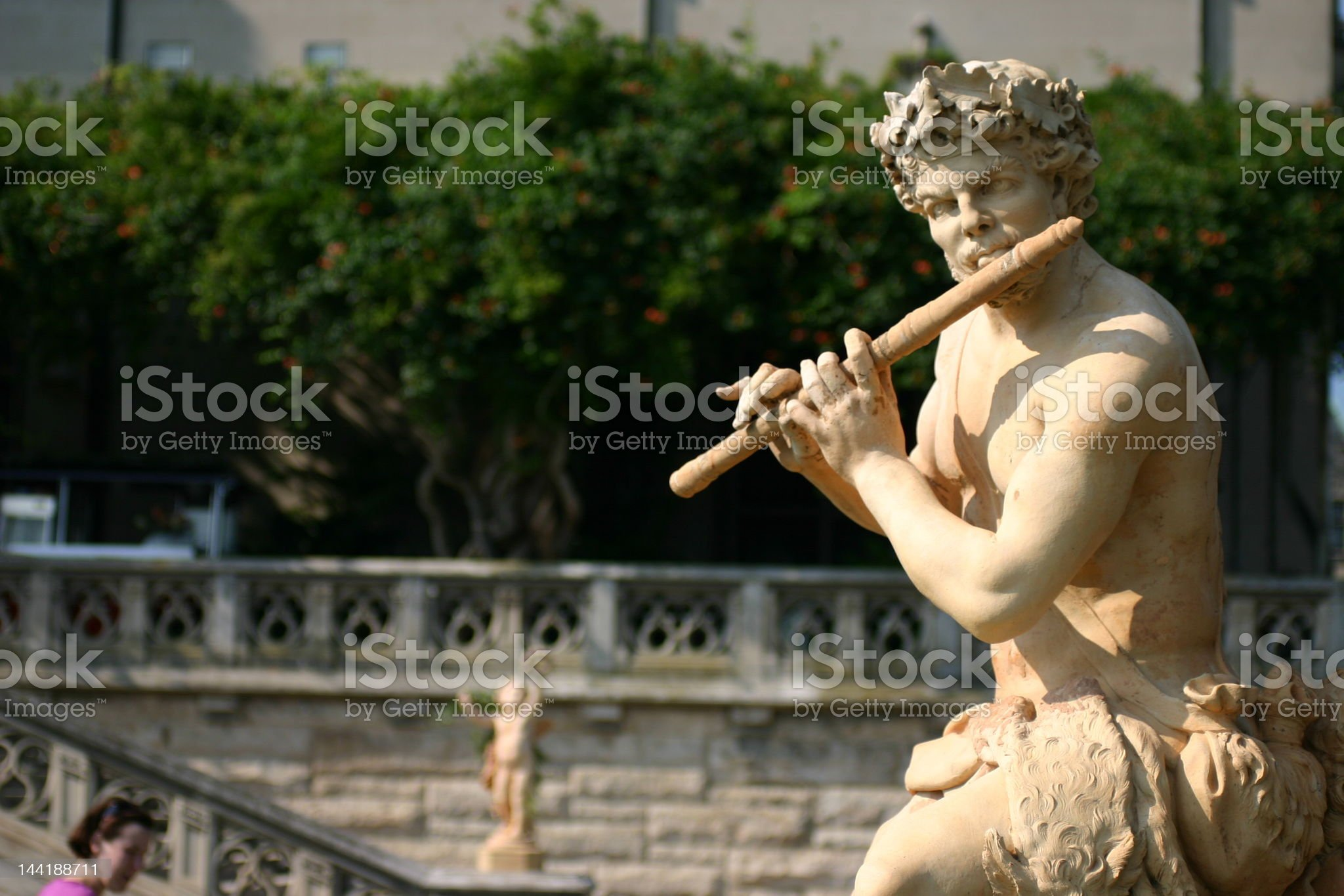 Flute Man royalty-free stock photo
