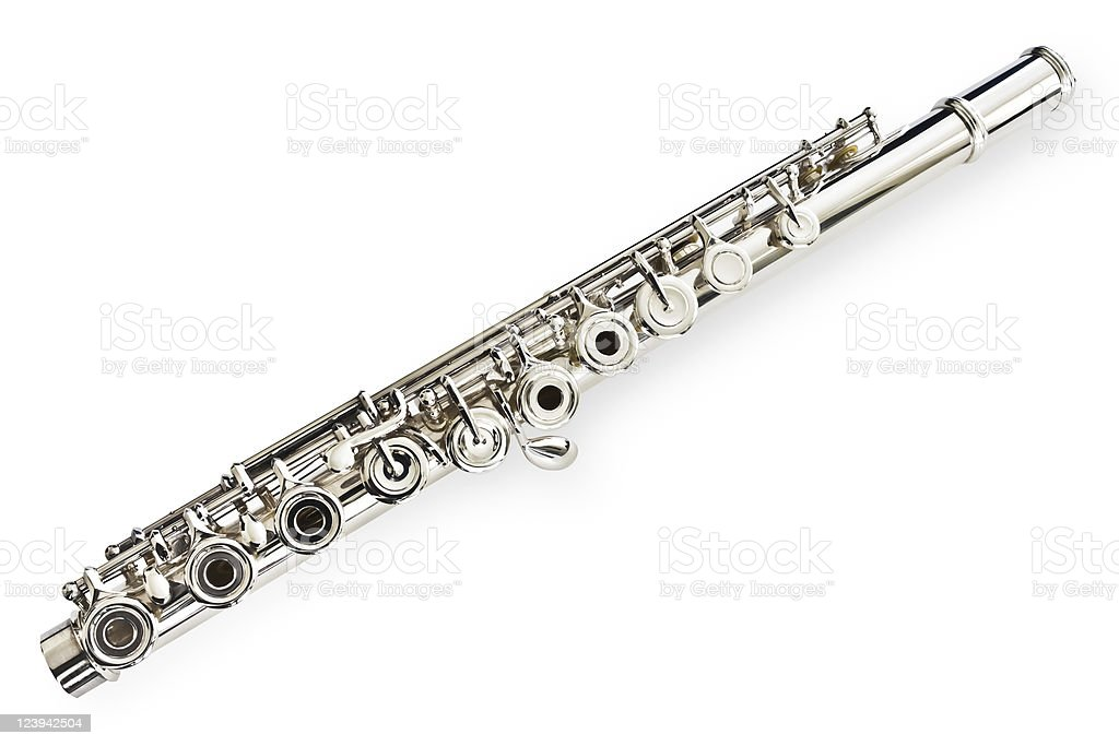 Flute / Middle Joint stock photo