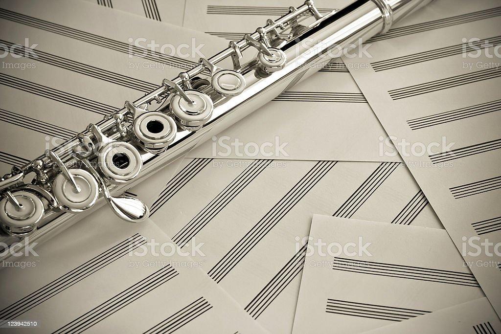 Flute Sepia Toning royalty-free stock photo
