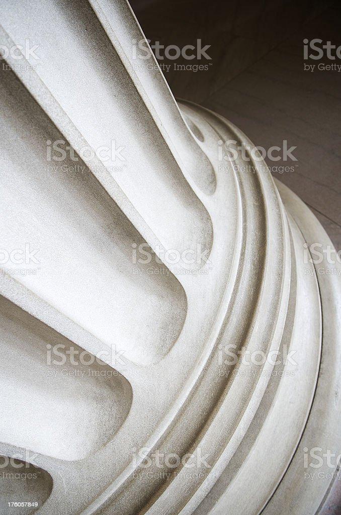 Fluted Column Base Close-Up stock photo