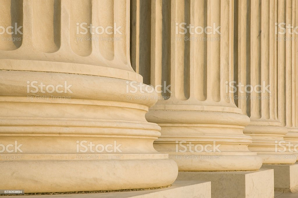 Fluted Columns and bases stock photo