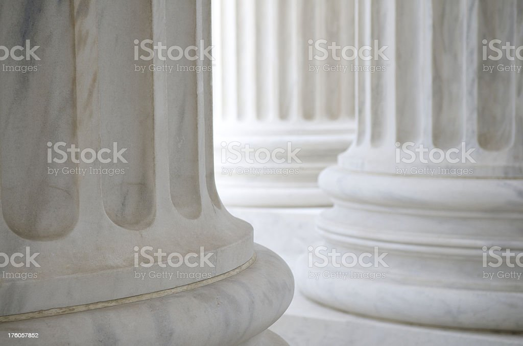 Fluted Columns Background stock photo