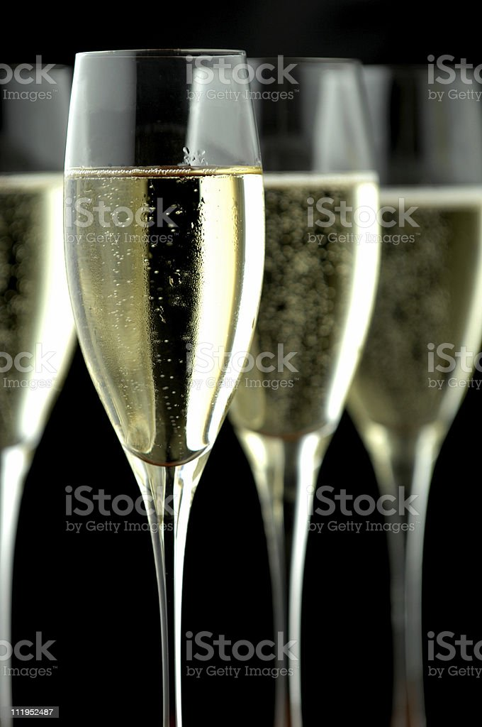 Flutes of champagne royalty-free stock photo