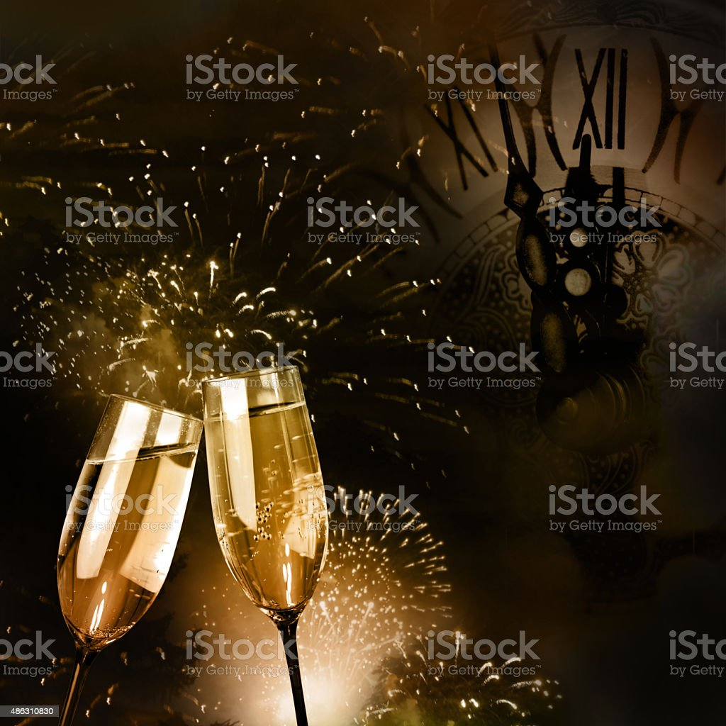 Flutes of champagne stock photo