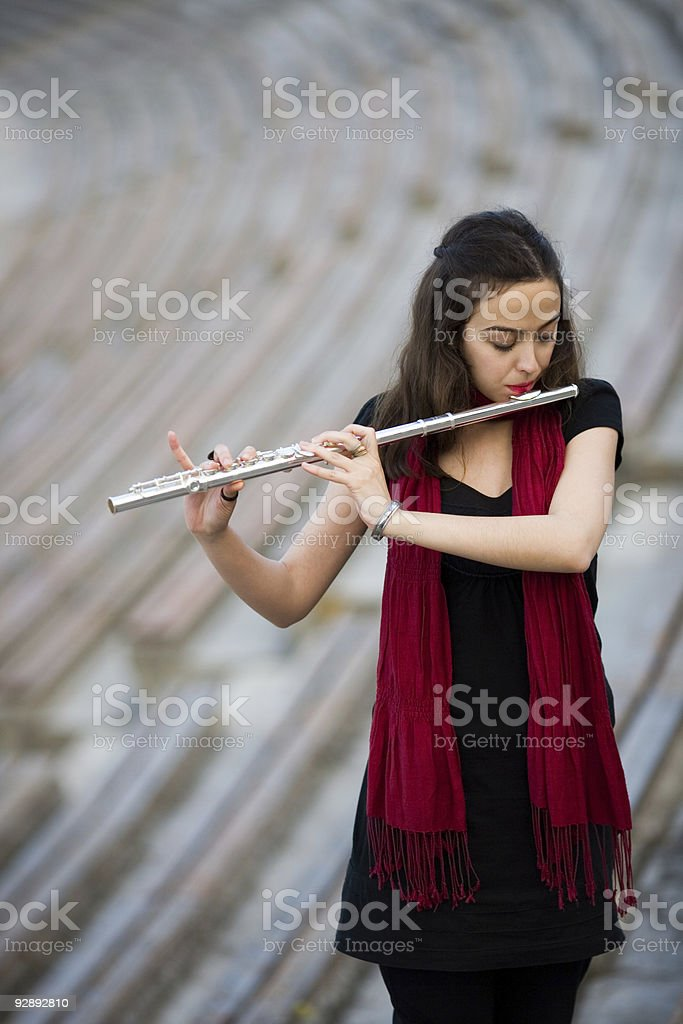 flutist royalty-free stock photo