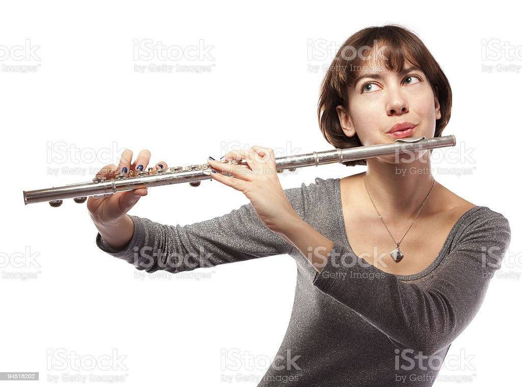 Flutist royalty-free stock photo