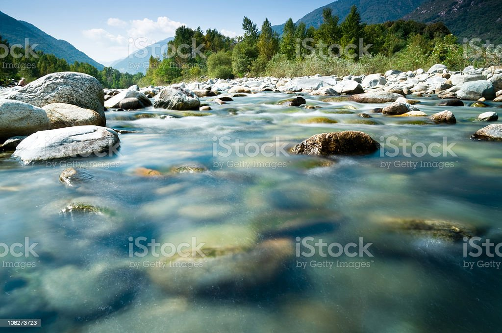 fluvial topography stock photo