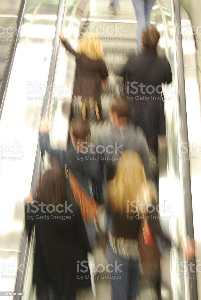 Flux escalators m?tro stock photo