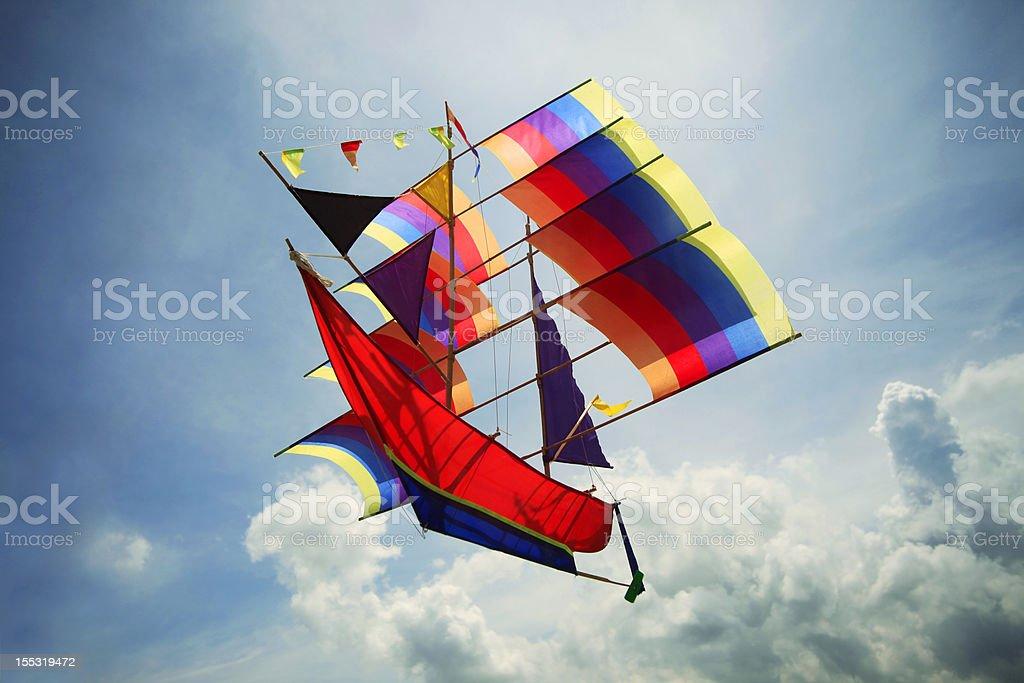 Fly a kite stock photo