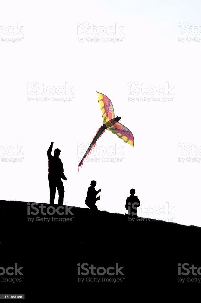 Fly A Kite royalty-free stock photo