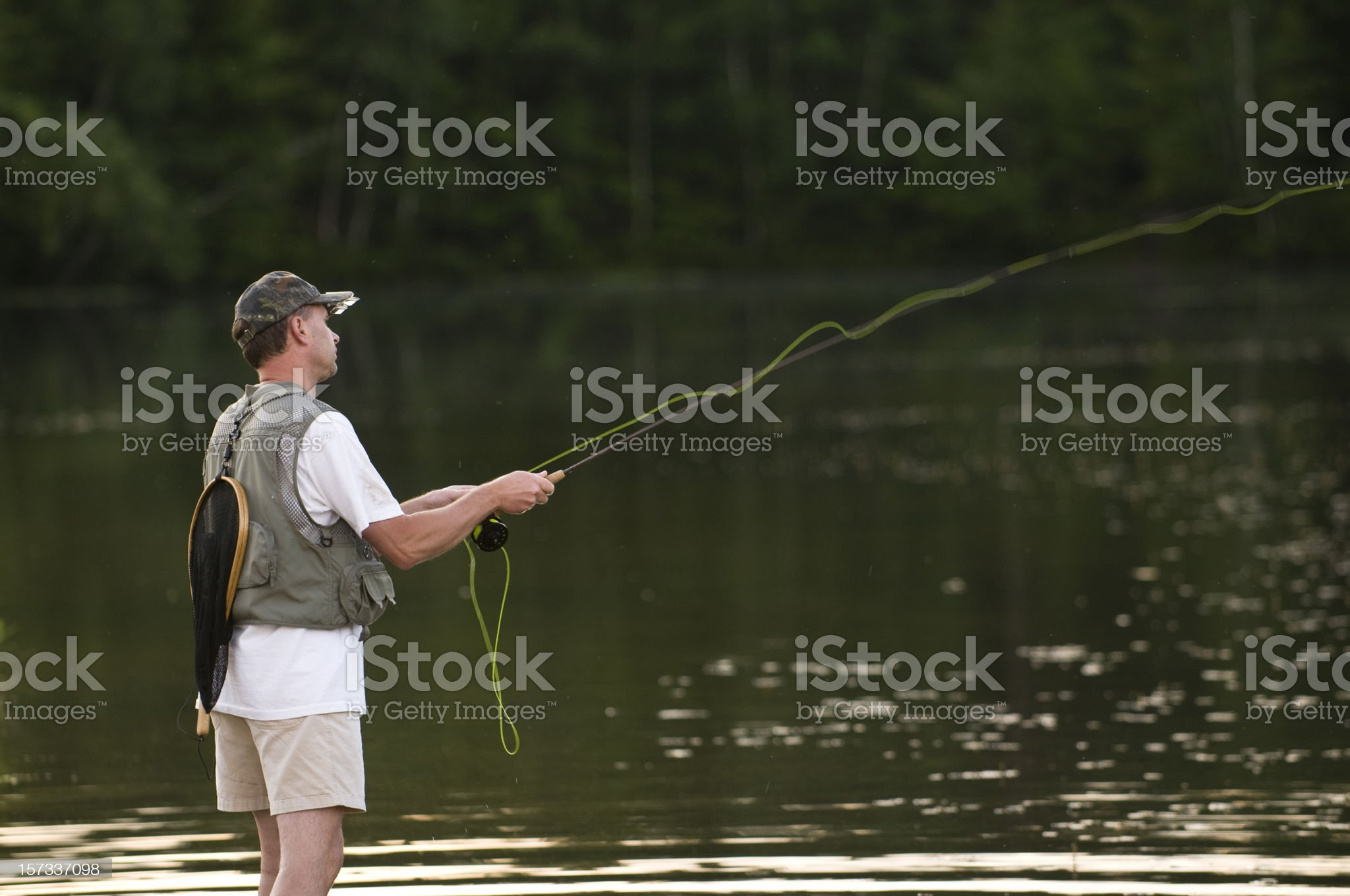 Fly Casting royalty-free stock photo