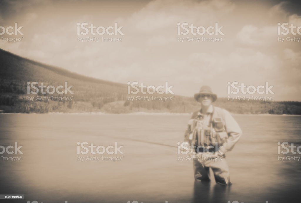 Fly Fisher Portrait stock photo