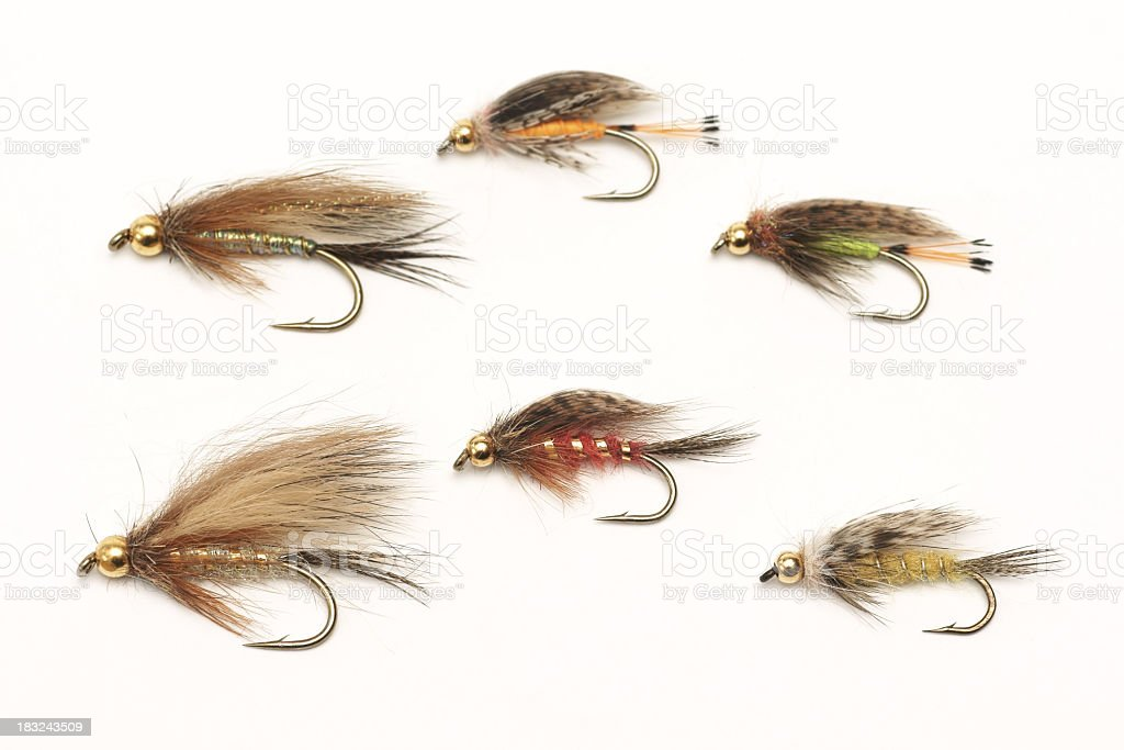 Fly fishing, bait stock photo