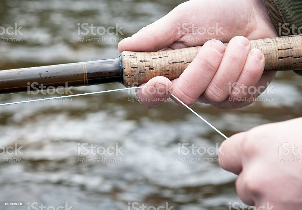 Fly Fishing Close-Up royalty-free stock photo