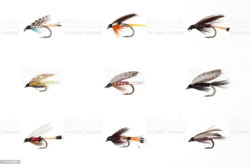 Fly Fishing - Dry Flies stock photo