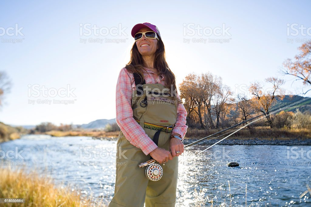 Fly Fishing Environmental Portrait stock photo