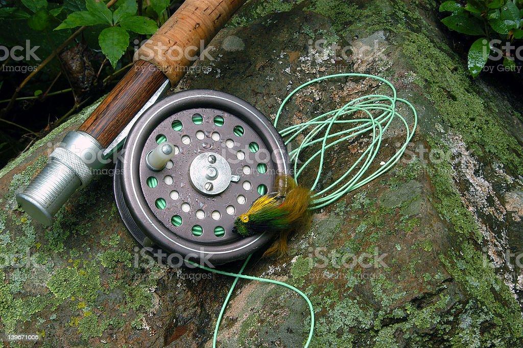 Fly Fishing III stock photo