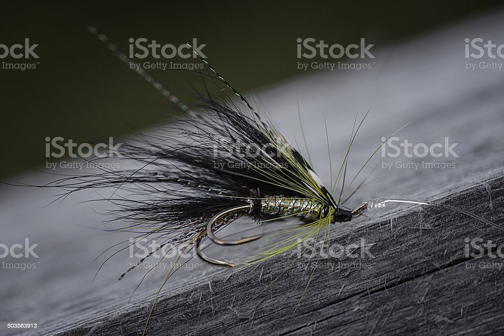 Fly Fishing Lure for Salmon stock photo
