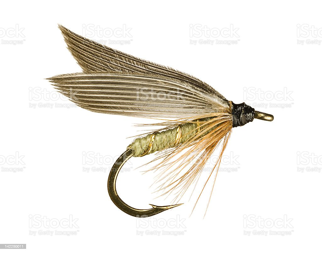 Fly Fishing Lure stock photo