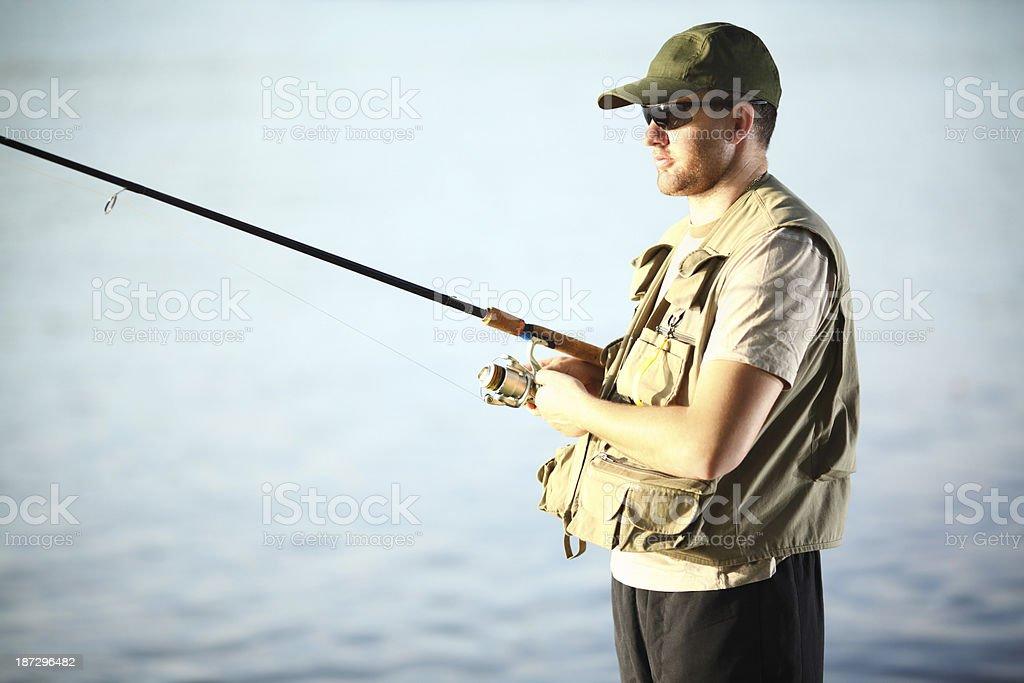 Fly fishing. royalty-free stock photo