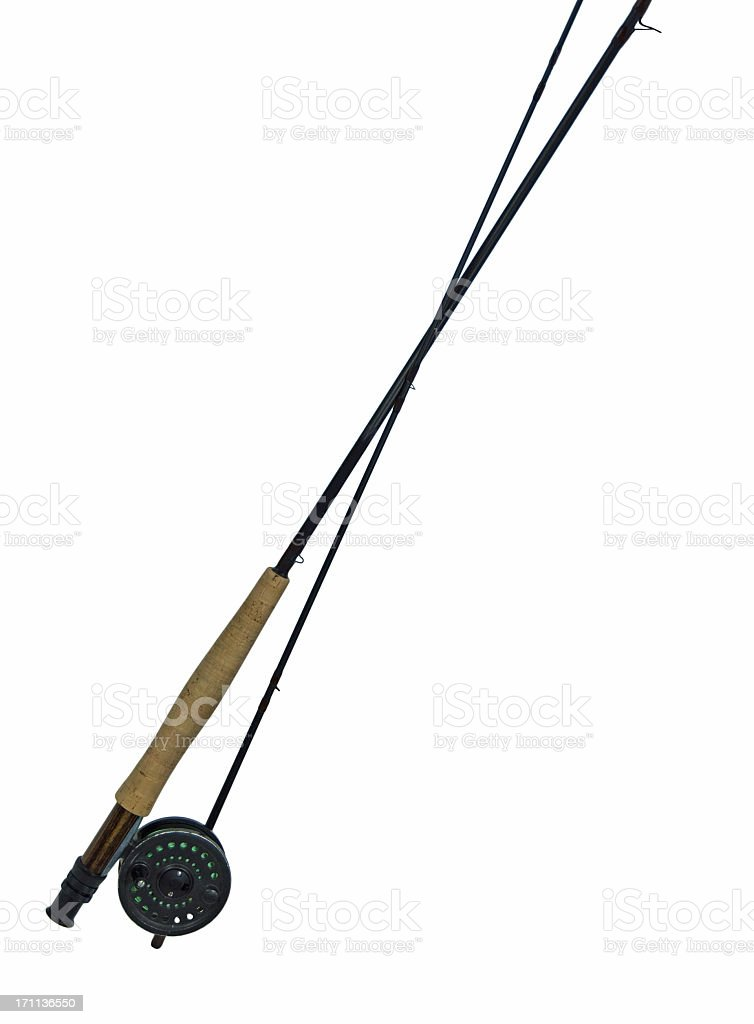 Fly Fishing Rod and Reel royalty-free stock photo