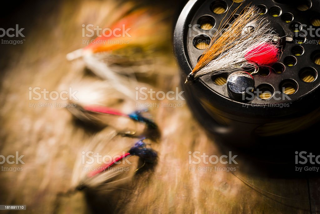 Fly Fishing Tackle stock photo