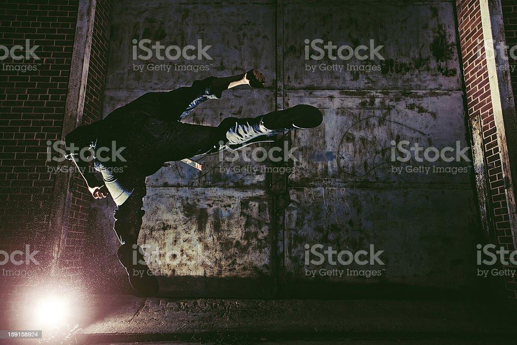 fly kick stock photo