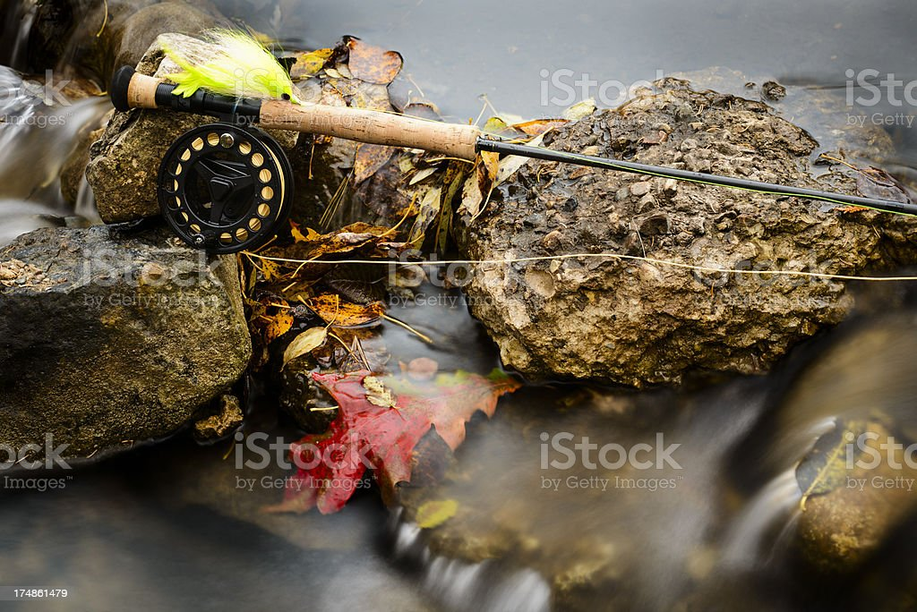 Fly Rod and Reel royalty-free stock photo