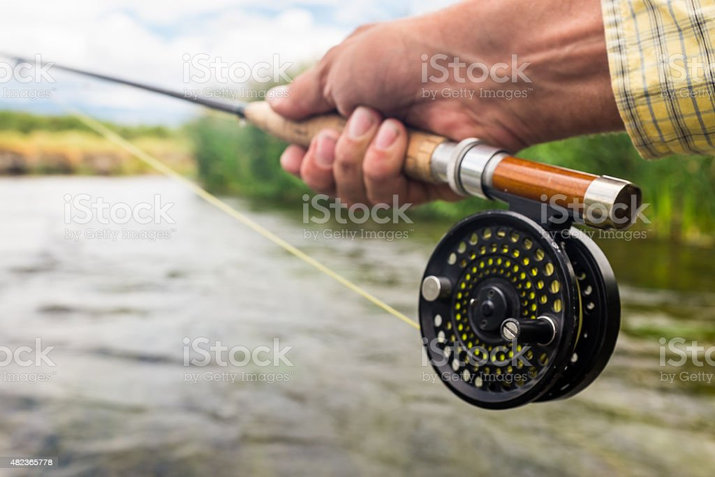 Fly Rod and Reel stock photo