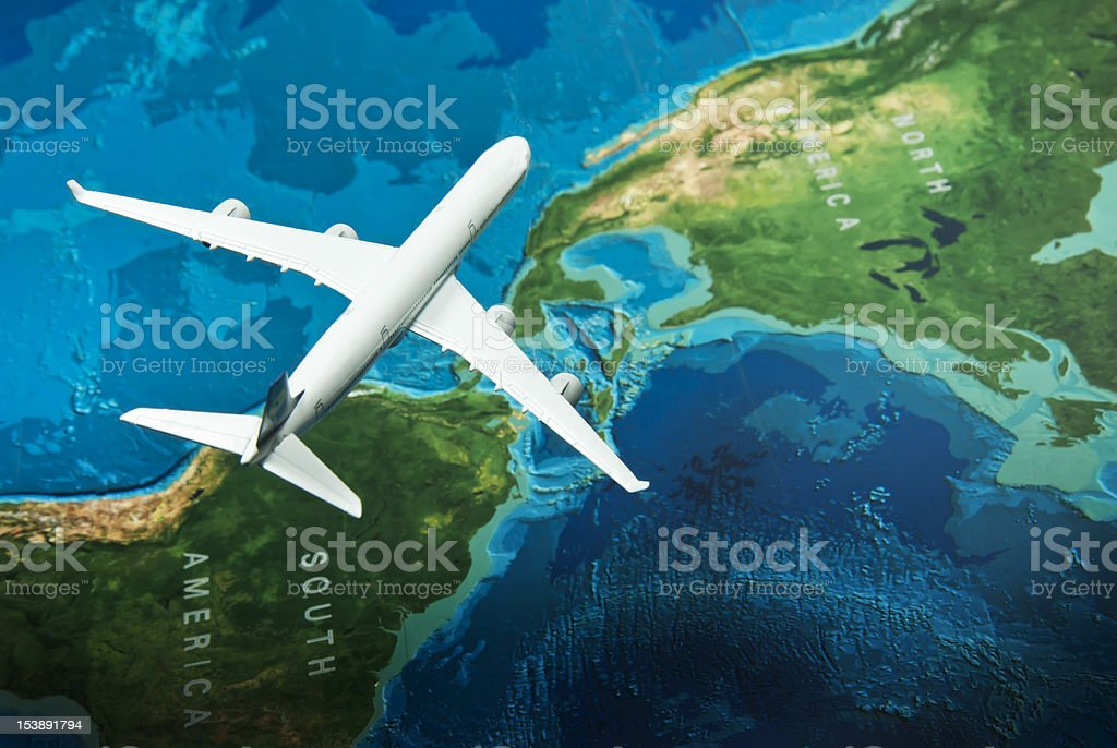 Fly to America royalty-free stock photo