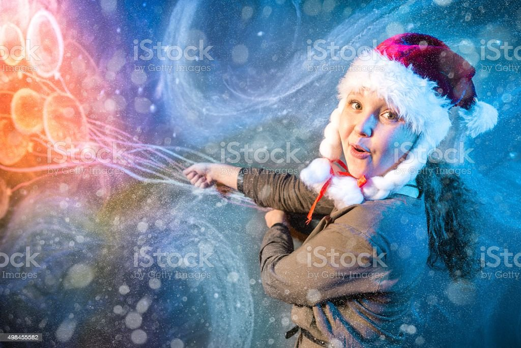 Fly To Winter Fairy Tale stock photo