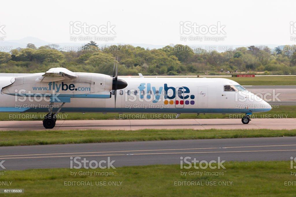 Flybe Bombardier Dash 8 stock photo
