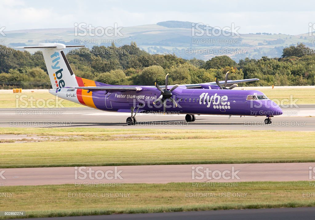 Flybe Bombardier Dash 8 Q400 stock photo