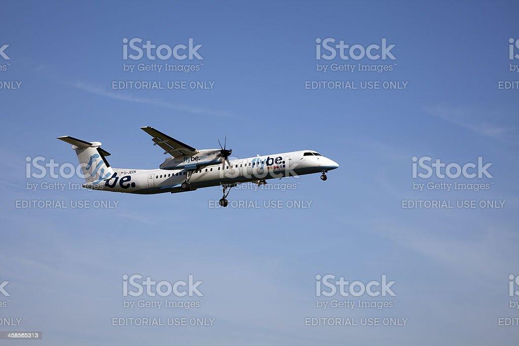 flybe de Havilland Canada DHC-8-402Q Dash 8 stock photo
