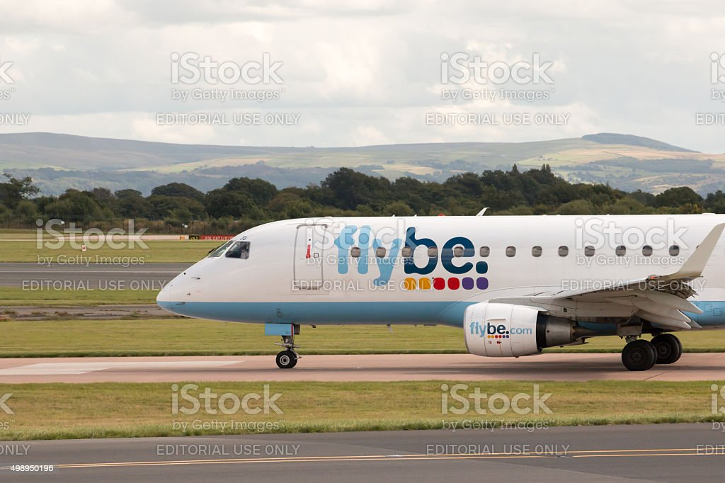 Flybe Embraer 175 stock photo
