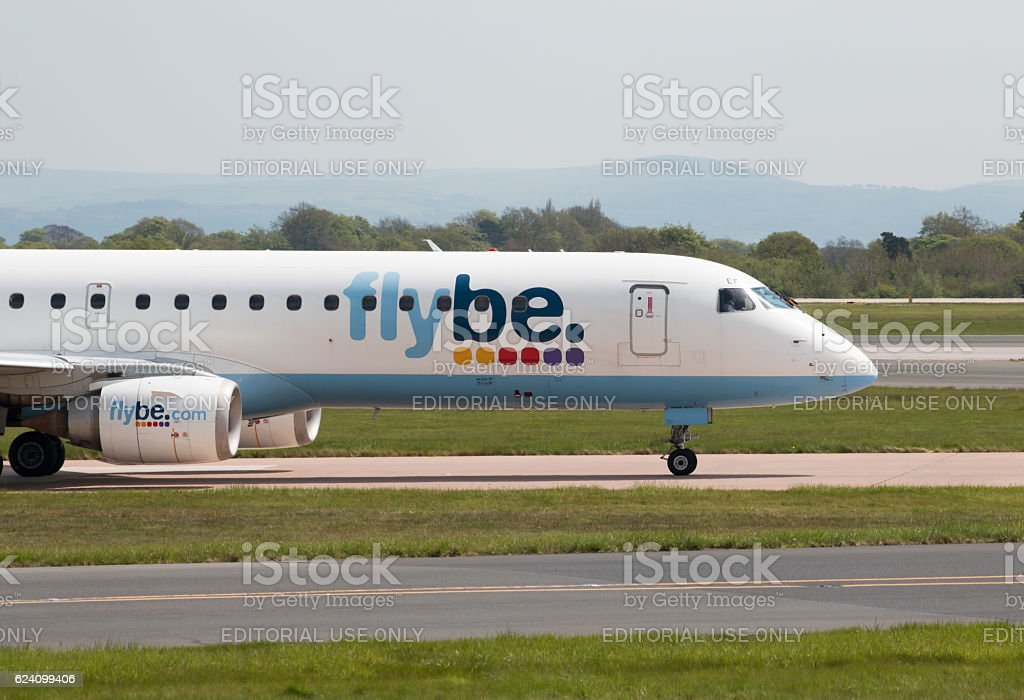 Flybe Embraer 195 stock photo