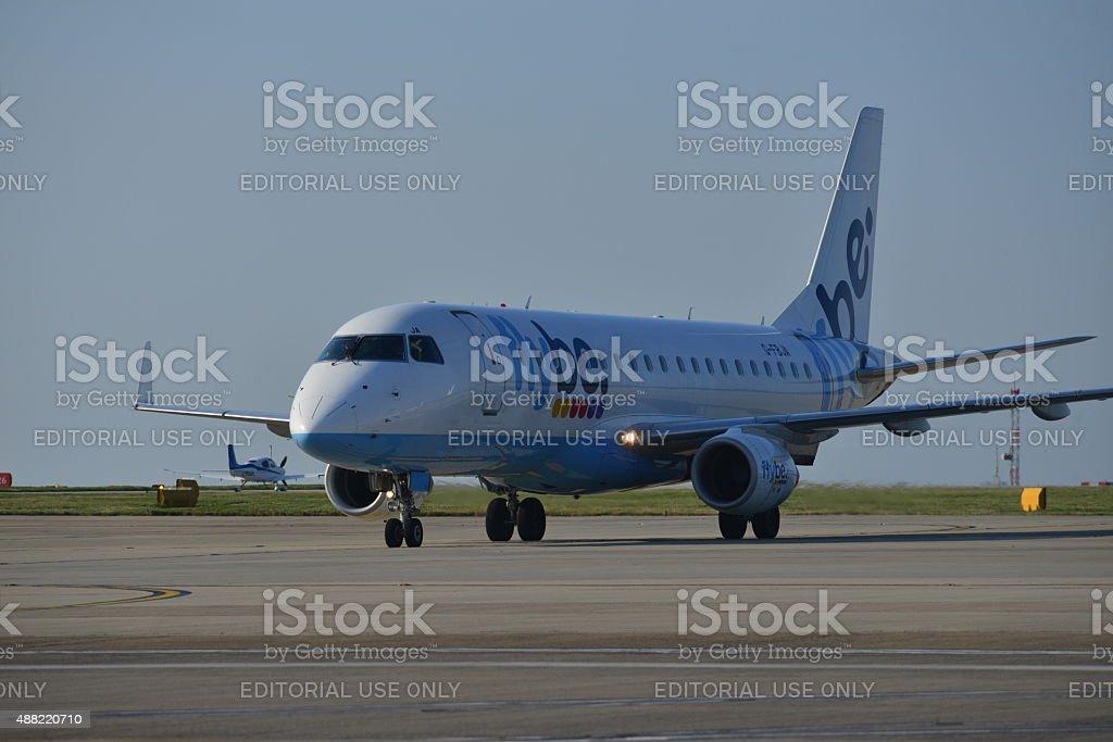 Flybe Embraer E175, U.K. stock photo