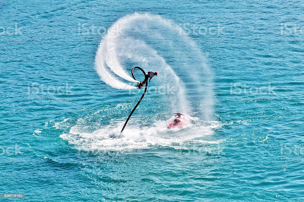 flyboarding stock photo