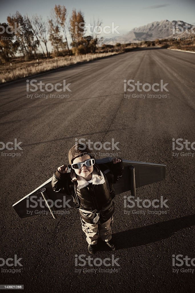 Flyboy royalty-free stock photo