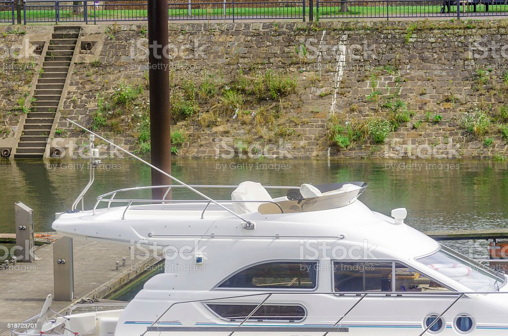 Flybridge, Yacht, Motorboat, Boat stock photo