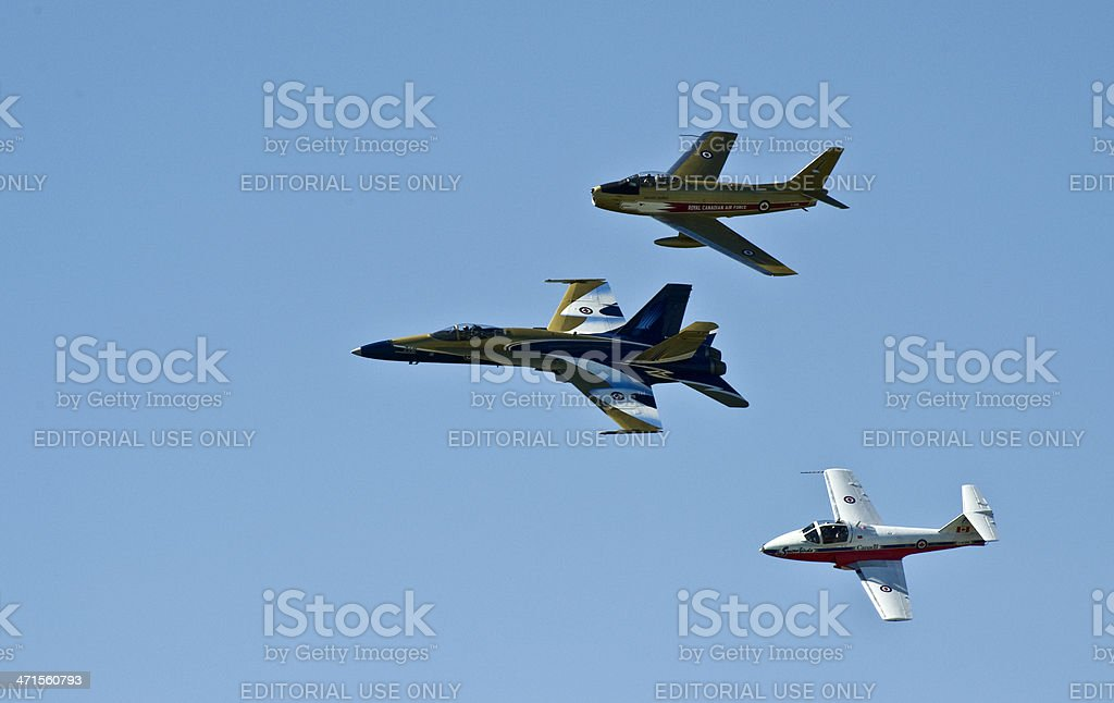 Flyby of Jets royalty-free stock photo