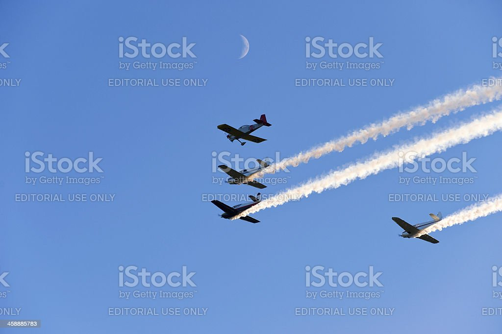 Flyby royalty-free stock photo