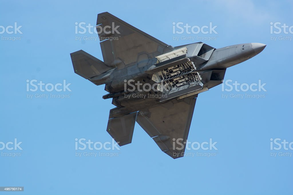 F-22 Fly-By stock photo