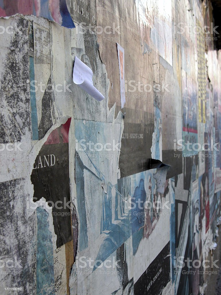 Flyers posted on Wall royalty-free stock photo